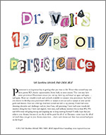 Dr Vapi 12 tips on Persistence